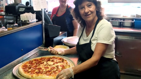 Elli Darmoyslis has been making pizzas for Syracuse students for 46 years.