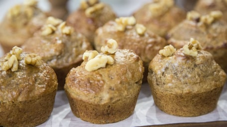 Wendy Bazilian Banana and Walnut Muffins