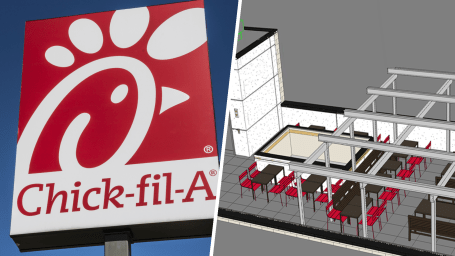 Chick-fil-A rooftop restaurant