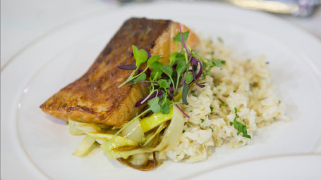 Erica Reid's Ginger Salmon + Coconut Rice