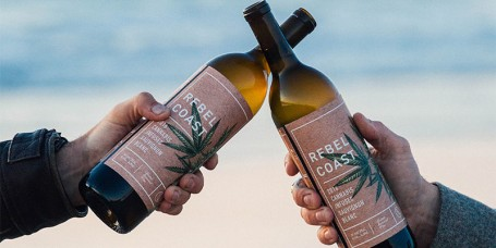 Rebel Coast Winery's cannabis-infused sauvignon blanc wine
