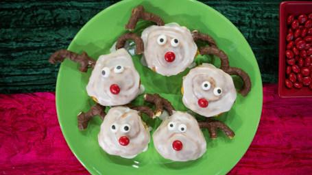 Brandi Milloy's Reindeer Rolls, Perfect Pancakes, Gingerbread Man Pancakes, Snowman Pancakes, Elf Pancakes, Santa Pancakes