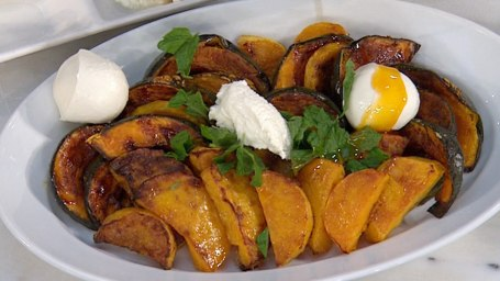 Roasted Acorn Squash with Harissa-Citrus Dressing and Mint