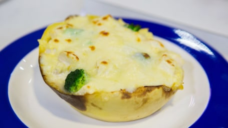 Katie Lee's Lemon Pasta + Chicken and Broccoli Twice-Baked Spaghetti Squash