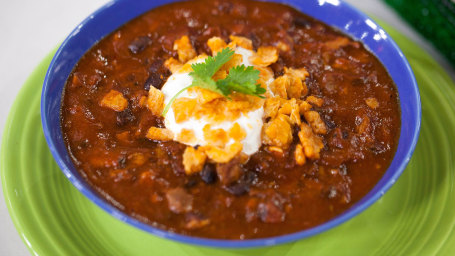 Image: Coffee-Rubbed Brisket and Black Bean Chili