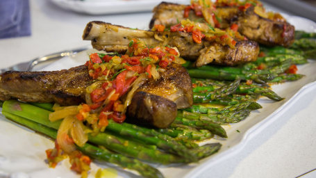 Matt Abdoo's Pork Chop with Vinegar Peppers