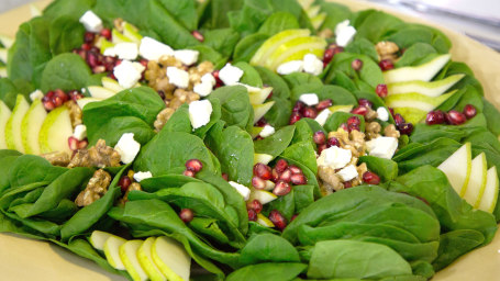 CAMILA ALVES PEAR & POMEGRANATE SALAD