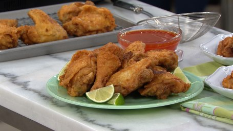 Judy Joo shows us three recipes to make with oven-fried chicken