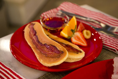 Bacon pancake soldiers