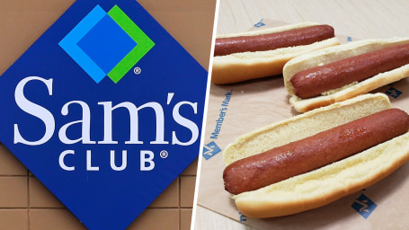 Sam's club, polish hot dogs