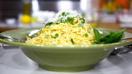 John and Tony Alberti, lemon linguini, lemonchello