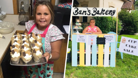 9-year-old raises money for homeless at cupcake stand
