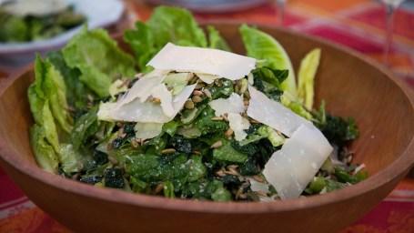 Clodagh McKenna's Clam Linguine + Kale Caesar Salad