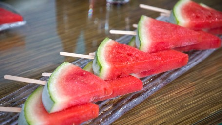 Soaked Watermelon Slice Popsicles