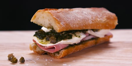 Recipes easy recipes and cooking tips from the today show today giadas super simple favorite sandwich features mortadella pesto and mozzarella forumfinder Images