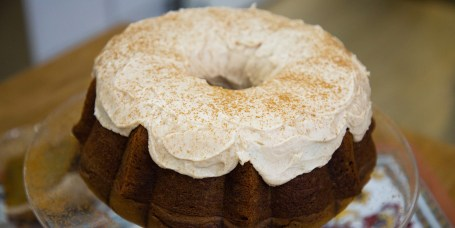 Shay Shull's Butternut Squash Pasta, Sausage and Pumpkin Soup, Pumpkin Spice Latte Bundt Cake