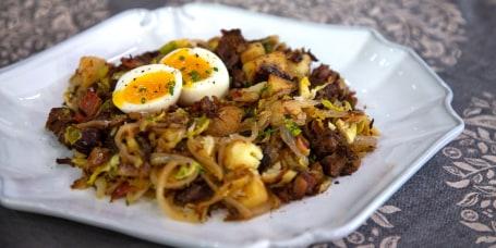 Ina Garten's Classic Daiquiri, Chocolate Pecan Meringue Torte, Short Rib Hash and Eggs, Tomato & Eggplant Soup