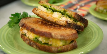Martina McBride's Grilled Chicken, Chicken Tortilla Soup, Chicken Panini with Southwestern Pesto