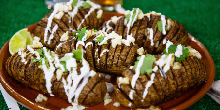 Grill Dads' Mexican Hasselback Potatoes + Picanha Steak Tacos