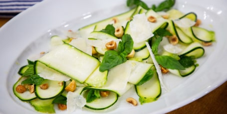 Bianca Borges' Salmon Chraimeh + Shaved Zucchini Salad