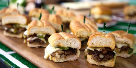 Elizabeth Heiskell's Shrimp Remoulade + Crawfish Bread + Philly Cheesesteak + Beef Roll-ups + Pig Skin Nachos
