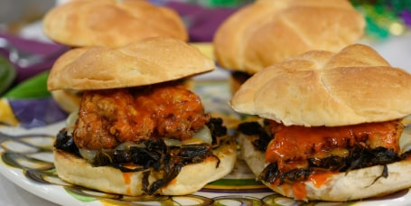 Isaac Toups' NOLA BBQ Shrimp + Fried Chicken Sandwich