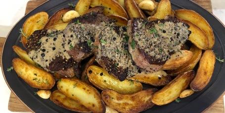 Ashish Alfred's Steaks au Poivre