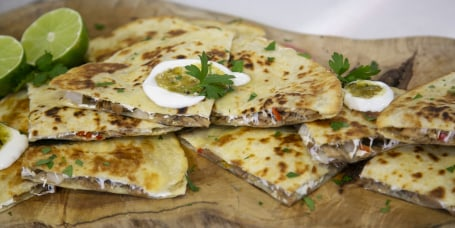 Grill Dads' Pork Carnitas Quesadillas + Grilled Potato Salad