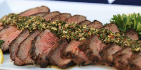 Tri tip with chimichurri sauce