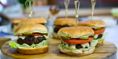 Laura Vitale's Speedy Scrumptious Burgers + Shortcut Crispy Fries