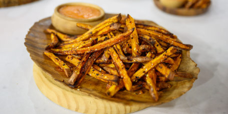 Joel Gamoran's Herby Parmesan Chicken Tenders + Everything Bagel Sweet Potato Fries