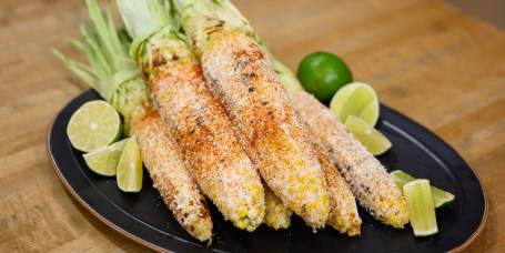 Marcus Samuelsson's Peanut-Bacon Pork Chops + Grilled Corn