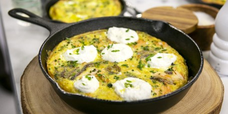 Melissa Clark's Salmon with Lots of Herbs & Yogurt Sauce + Salmon Frittata + Salmon Fried Rice