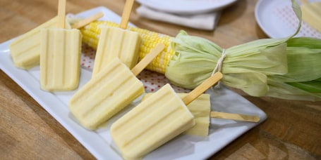 Katie Lee's Scallop Corn Chowder + Corn Ice Pops