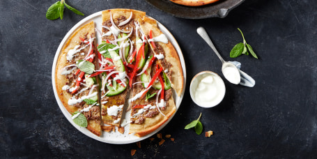 Crispy Lamb Flatbreads