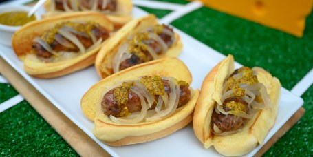 GRILL DADS: Beer-Braised Brats + Beef Brisket Burnt End Sliders