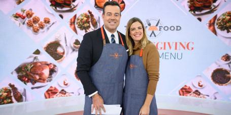 Carson's Brandy Alexander + Al Roker's Sweet Potatoes + Siri's Autumn Panzanella + all 3 hosts preparing dishes