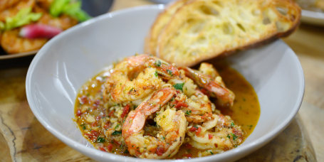 Brian Landry's Shrimp Etouffee and Dumplings + Shrimp Remoulade + Garlic Clove Shrimp