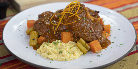 LIDIA BASTIANICH: Ossobuco Milanese Style + Risotto Milanese + Penne with Spicy Tomato Sauce and Ricotta