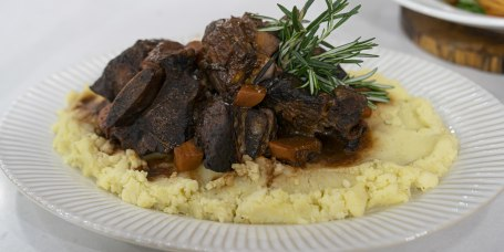 LIDIA BASTIANICH: Barolo-Braised Short Ribs + Pasta Amatriciana + Olive Oil Mashed Potatoes