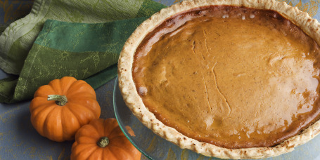 Pumpkin Pie Thanksgiving Dessert, a Homemade, Baked, Gourmet Holiday Food