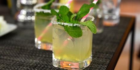JORDAN SALCITO - MOCKTAILS: Limeade + Spicy Mule + Juniper & Tonic + Grapefruit Spritz
