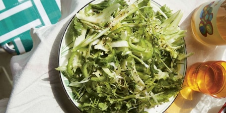 Celery Salad with Cilantro and Sesame