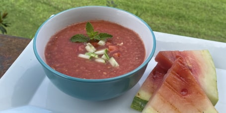 Grilled Watermelon Gazpacho