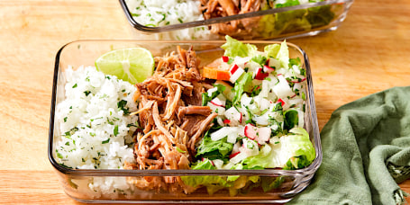 Pulled Pork Burrito Bowls
