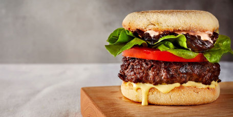 Akhtar Nawab's Bison Burger with Balsamic Onions