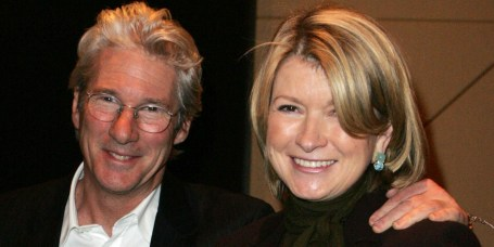 Richard Gere and Martha Stewart