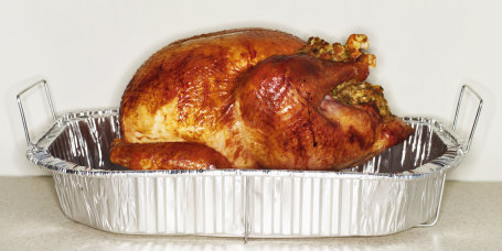 Turkey in Roasting Tin