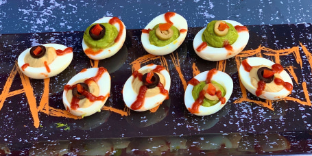 Joy Bauer's Deviled Egg Eyeballs