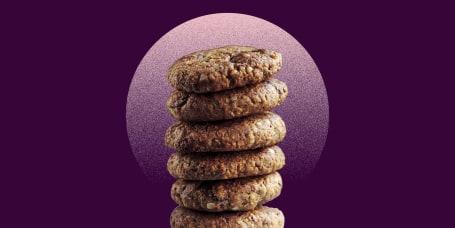 Chocolate Chip Gravel Cookie Stack Portrait